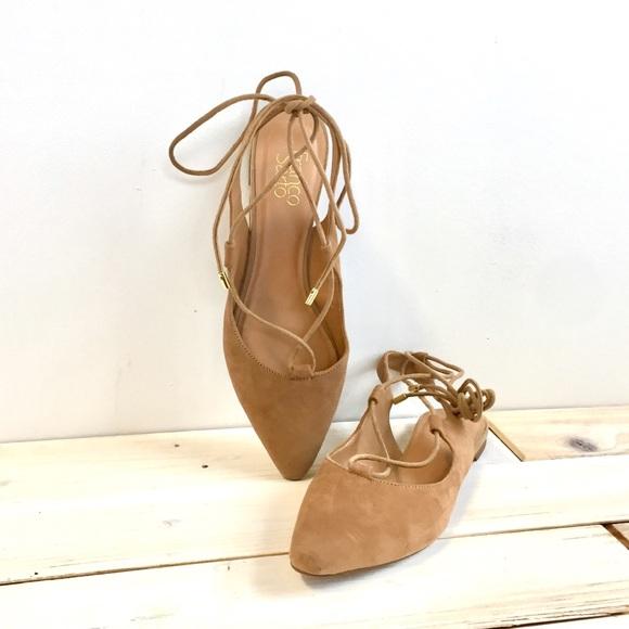 c0b5328f5b9 Franco Sarto Shoes - Franco Sarto Pointed L Snap Slingback Ghillie Flat